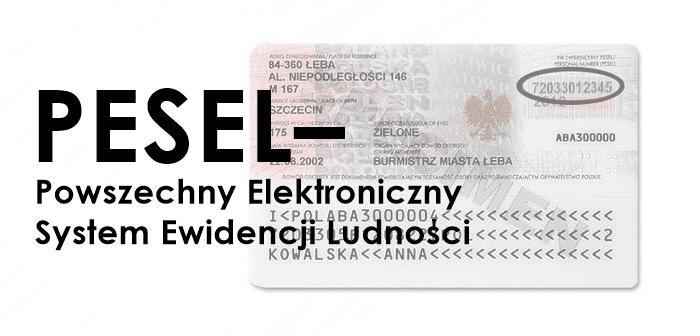 PESEL – Powszechny Elektroniczny System Ewidencji Ludności